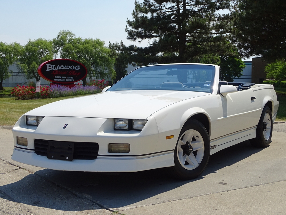 1989 Chevrolet Camaro RS Converbible $13,999